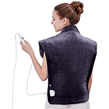 Utaxo Heating Pad Wrap, for Neck Shoulders Whole Back Pain Relief, Soothing Muscle Pain and Tension Relief Therapy, 6 Electric Temperature Options, 25 x 32
