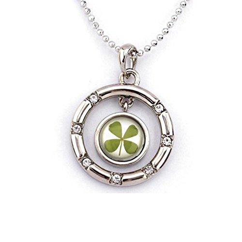 Leaf Clover Shamrock Necklace Pendant - 4