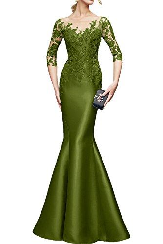 Gruen Rot Etuikleider Still Meerjungfrau La Spitze Bodenlang Abendkleider Langarm Partykleider 3 Braut Marie 4 Ballkleider Olive qFfZ4Ex