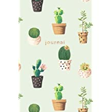 Journal: Green Cactus Notebook: 175-Page Wide-Ruled Cactus Journal