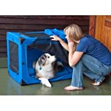 Generation II Deluxe Portable Soft Dog Crate in Blue Sky – Medium Review