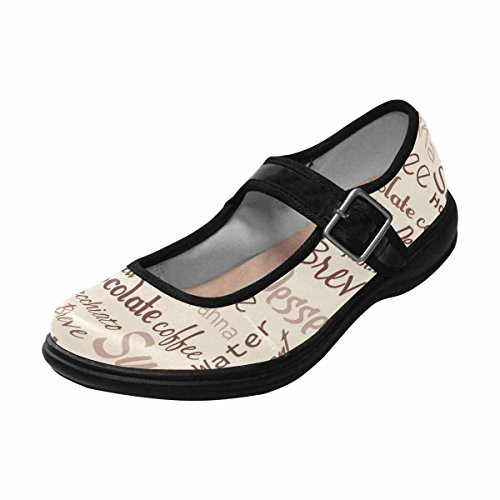 InterestPrint Womens Comfort Mary Jane Flats Casual Walking Shoes Multi 5 fRQQmGcS