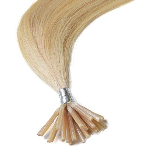 Pre Bonded Hair Extensions Stick-Tip-#22 Medium Blonde-100% Human REMY Hair-Grade AAA-0.6g x25 strands (18) by happyqueen