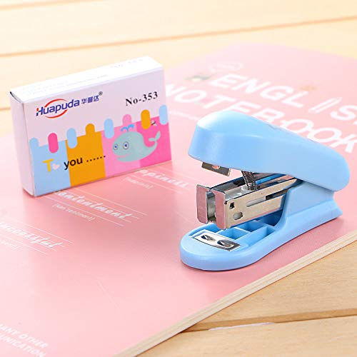 IANXI Home Mini Stapler Cute Student Stationery Office Supplies Binding Machine (Cards Staples Business)
