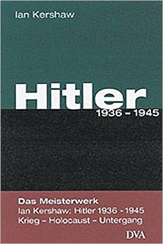 hitler 1936 1945 amazonde ian kershaw klaus kochmann bcher - Hitler Lebenslauf