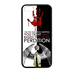 Popular TV Series Supernatural Unique Castiel Protective Cover Case for iPhone 5/5s (Laser Technology) by ruishername