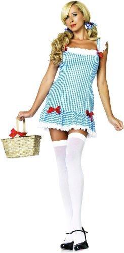 Leg Avenue Women's Darling Dorothy Costume, Blue/White, Small/Medium ()