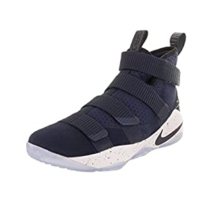 NIKE Men's Lebron Soldier XI College/Navy/College/Navy Basketball Shoe 9.5 Men US