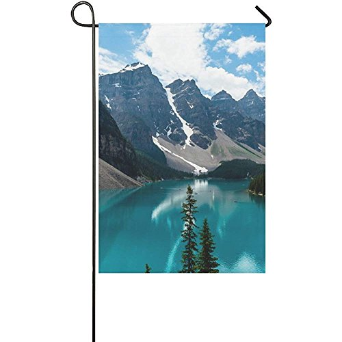 Starochi Welcome Flags Lake Louise Mountain Fantastic Nature Yard Garden Flag 12 x 18 Inches