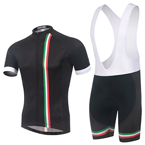TeyxoCo Men Italy Fashion Cycling Gel Pad Bid Jersey Set XXL