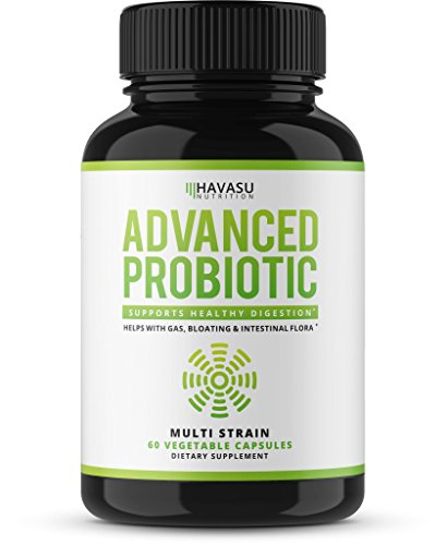 Probiotics Advanced Multi Strain for Men & Women – Supports Digestion & Immune Health– 60 Vegetable Capsules