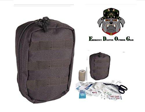 (EDOG TACTICAL TRAUMA FIRST AID KIT #1 - BLACK MOLLE BAG)