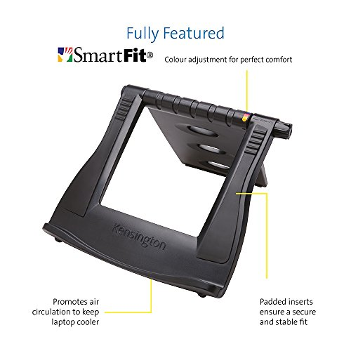 Kensington Easy Riser Laptop and Tablet Cooling Stand - Adjustable - Fits Wacom, iPad Pro and Other Tablets and laptops - Black (K52788WW)