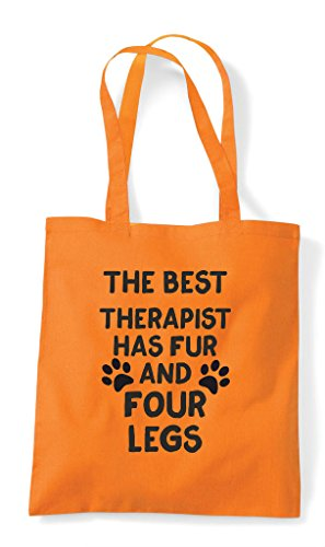 And The Fur Has Therapist Funny Legs Best Bag Cute Four Themed Shopper Tote Orange Animal WqIqTxHA