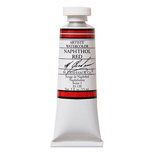 M. Graham 1/2-Ounce Tube Watercolor Paint, Naphthol Red
