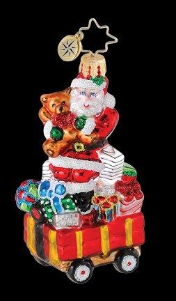 - RADKO WELL STOCKED WAGON GEM Santa Teddy Bear Ornament