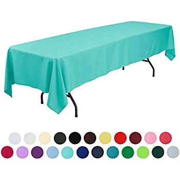 VEEYOO 60 X 126 Inch Rectangular Solid Polyester Tablecloth For Wedding  Restaurant Party, Turquoise