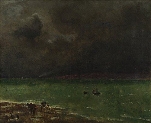 [Oil Painting 'Alfred Stevens Storm At Honfleur ' Printing On Perfect Effect Canvas , 8 X 10 Inch / 20 X 25 Cm ,the Best Gym Decor And Home Artwork And Gifts Is This Vivid Art Decorative Prints On] (Color Guard Costumes Rental)