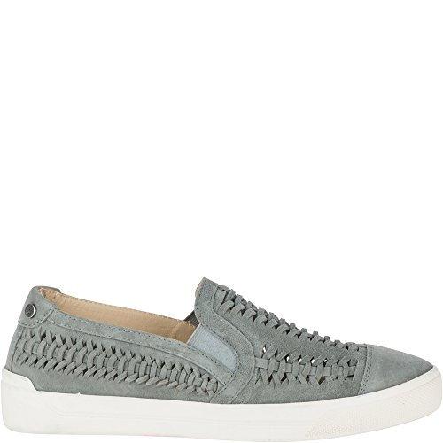 Hush Puppies Women's Gabbie Woven Slip on Loafer, Frost Gray, 9 M US (Hush Puppies Ladies Shoes)
