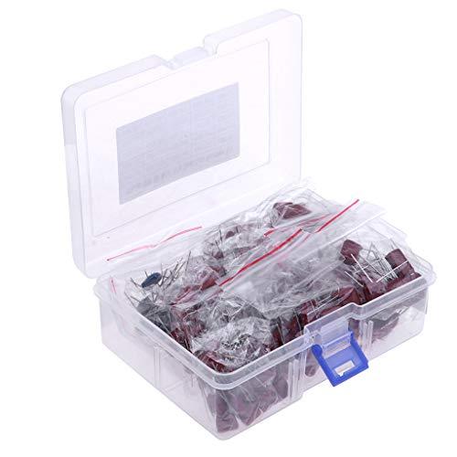 SM SunniMix Capacitor Kit, Metalized Mylar Polyester Film Capacitor Assortment Box Kit Set 630V, Range 0.001uf ~ 2.2uf, Pack of 200