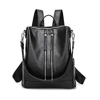 JeHouze Fashion Women Handbag Genuine Leather Backpack Casual Shoulder Bag
