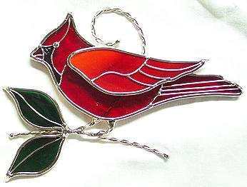 Cardinal Suncatcher - Silver Finish by Unknown