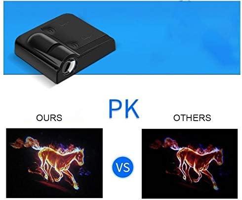 Autot/ür Willkommenslicht 4 x Individuelles Logo Wireless Projector Auto-T/ür-Schritt Begr/ü/ßungsset Lichter Puddle-Geist-Schatten-LED-Leuchten for Volkswagen Cars