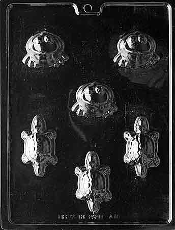 Cybrtrayd Life of the Party A111 Frogs/Turtles Animal Chocolate Candy Mold in Sealed Protective Poly Bag Imprinted with Copyrighted Cybrtrayd Molding Instructions