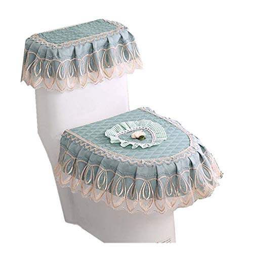 Xiaojie Love toilet cover stof cover doek driedelige wc-bril stofdicht toilet cover, A