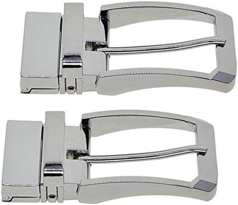 Hellery ベルトバックル メンズ 交換用 バックル 合金 尾錠 バックルのみ シルバー ピン式 2個 全2種