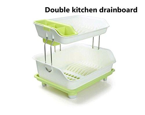 Brand New 2 Tier Dryer Kitchen Dish Drying Rack Holder Home Sink Drainer