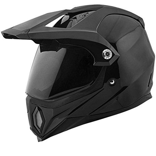 Speed and Strength Solid Speed Full Face SS2500 Motorcycle Helmet (Black, Medium)