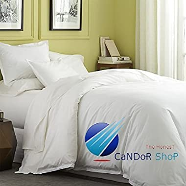 The Candor 800tc 4pc Sheet Set Call King Size White Solid Color 100% Egyptian Cotton Easy Care