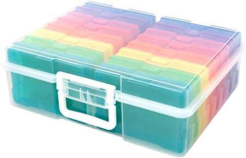 We R Memory Keepers 660269 - Contenedor de Almacenamiento con 16 Mini Estuches Codificados Por Colores para Almacenar Fotos, Adornos, Cintas, 38.1 x 30.48 x 12.95 cm: Amazon.es: Hogar
