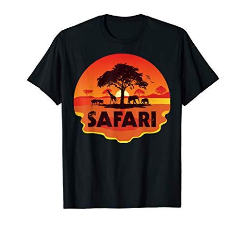 African Safari Gift Beautiful Sunset Wild Animals Safari T-Shirt ()