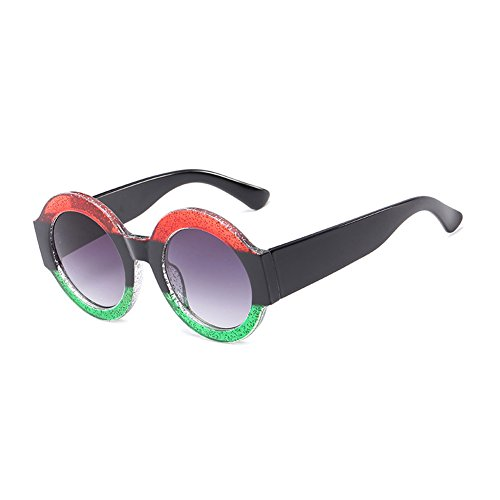 de Color grande Sunglasses Moda CJ9006 CJ9006 de gafas sol de C1 de C6 de UV400 sol mujer plástico sol TL de hombre marco gafas Gafas circular WqZycII5