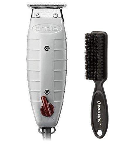 Andis Professional T-Outliner Beard/Hair Trimmer with T-Blade, Gray, Model GTO (04710) with a BeauWis Blade Brush (T Wide Trimmer Clippers)