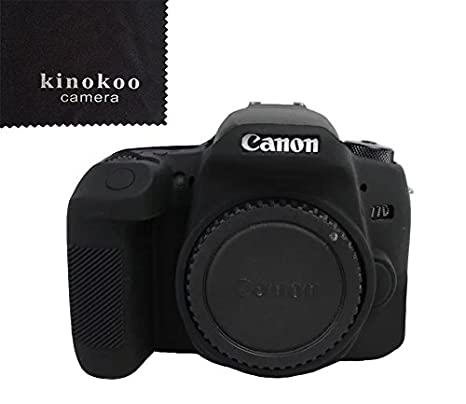 amazon com kinokoo camera cover silicone case for canon 77d black