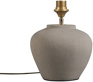 Lampada Da Tavolo Rustica Grigia Pietra Calcestruzzo Senza Paralume Inca Xs Amazon It Illuminazione