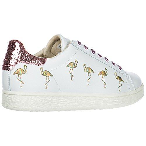 of Flamingo MOA Arts Blanc en Chaussures Baskets Master Sneakers Cuir Femme q1fWOwa1H