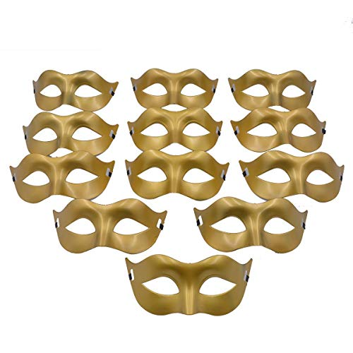 (Masquerade Mask Party Favors - Mardi Gras Venetian Mask Halloween Novelty Gifts Pack of 12)