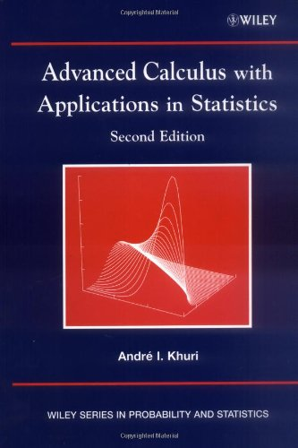 Advanced Calculus with Applications in Statistics (Advanced Calculus I compare prices)