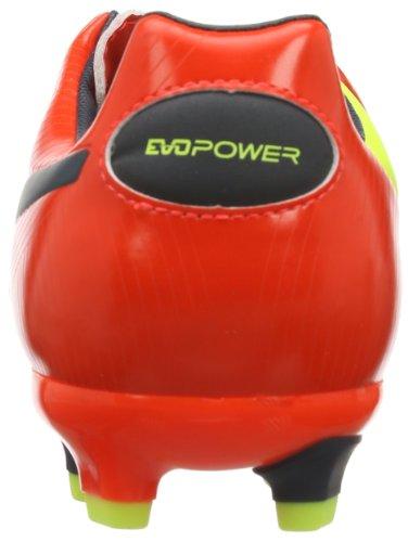 Puma evoPOWER 3 FG - Zapatos de fútbol de material sintético hombre rojo - Rot (fluro peach-ombre blue-fluro yellow 01)