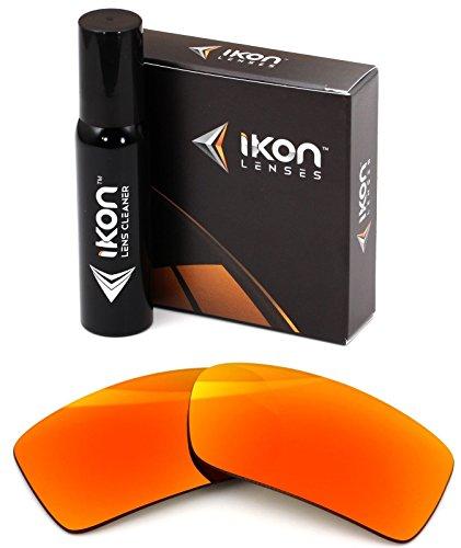 Polarized Ikon Replacement Lenses for Oakley Gascan Sunglasses - Fire Orange ()
