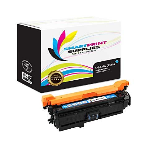 Smart Print Supplies Compatible 651A CE341A Cyan Toner Cartridge Replacement for HP Color Laserjet MFP M775 M775D, Enterprise 700 M775DN M775F M775Z+ Printers (16,000 Pages) ()
