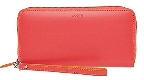 Lodis Accessories Women's Audrey Vera Wristlet Wallet Coral/Maize Clutch