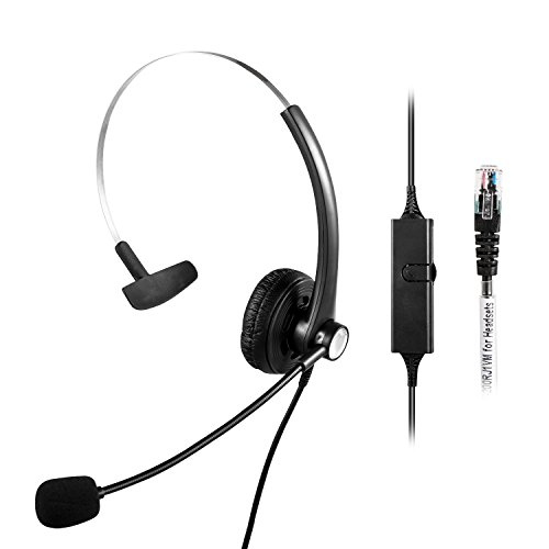 Qd Modular Plug (Xintronics Monaural Over-The-Head Headset Headphone with Mic for Cisco IP Phone 7931 7940 7941 7942 7945 7960 7961; Plantronics Vista Modular Adapter M10 M12 M22 MX10; Coiled Cord with RJ9 Plug)