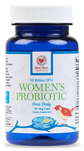 Probiotics for Women, Probiotic Supplement 50 Billion CFU - Best Nest Wellness,13 Strains with Acidophilus, More Complete Than Other Women's Supplements, 30 Natural Once Daily Time Release Capsules