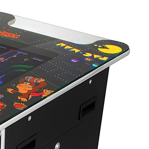 VEVOR Cocktail Arcade Game Machine with 60 Games 19 Inch Screen Classic Arcade Game Cabinet Home Commercial Settable Cocktail Table Retro Game by VEVOR (Image #8)