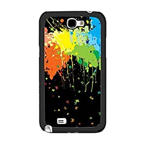 New Hipster Print Art Designer Personalized Case Cover for Samsung Galaxy Note 2 N7100 Love Hard Plastic Customized Cell Phone Case (colorful painting art)